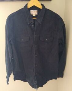 Filson Hunting Down Shirt XL Blue Cotton Flannel Workwear Outdoor 10497