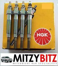 MITSUBISHI Pajero Shogun L200 Delica 2.5 4D56 12V NGK HEATER GLOW PLUG NEW x 4