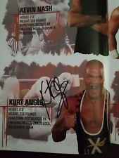 TnA Impact wrestling 2010 Live event program 21 autographs with matches logg