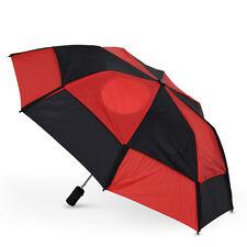 GustBuster Metro Auto Vented Folding Umbrella - Black & Red