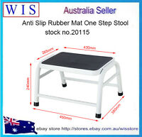 Step Metal Stool Safety Anti-slip Non-slip Rubber Tread Metal Ladder,120Kg Load