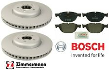 BMW F01 F07 Front Brake KIT w/ Zimmermann Vented Disc Brake Rotors & Bosch Pads