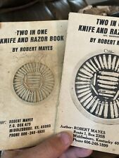 TWO IN ONE KNIFE AND RAZOR BOOK by Robert Mayes  Price Guide Qty-2
