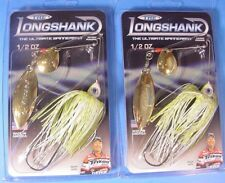 Lot of 2 -THE LONGSHANK 1/2 oz Spinnerbait -CHARTREUSE & WHITE- CWGG-035