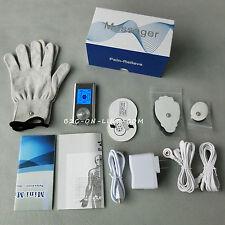 6 modos Terapia de pulso Mini TENS / EMS Massager + guantes y 4 almohadillas