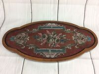ANTIQUE VICTORIAN ROSEWOOD BEADWORK & WOOLWORK FLORAL EMBROIDERY STAND c1860