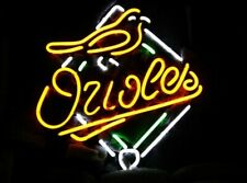 """Baltimore Orioles Neon Light Sign 24""""x20"""" Beer Cave Gift Bar Decor"""