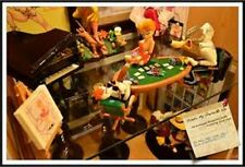 Extremely Rare! Tex Avery Playing Poker With Droopy Demons & Merveilles Statue
