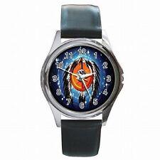 Indian Medicine Wheel Dream Catcher Native American Leather Watch New!