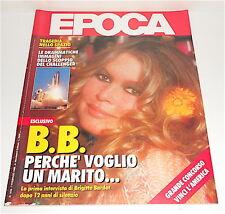 EPOCA n.1844 7 febbraio 1986 giornale - magazine : Brigitte Bardot , Bertè