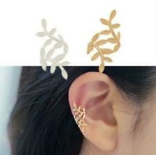 Womens Helix Cartilage Girls Ear Cuff Earrings  Stud Fake Clip On Gold Wrap Gift