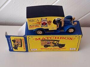 MATCHBOX Y-25 - 1910 RENAULT VAN - MICA 15 YEARS 1984-1999 - CODE 2 MODEL