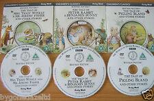 BEATRIX POTTER 3 STORIES  VERY RARE PROMO DVDs  (FREE UK POST)