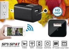 Spy Spot HD WIFI Wall Plug Hidden USB Charger Video Camera