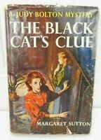 Judy Bolton Mystery # 23 The Black Cat's Clue by Margaret Sutton w/DJ 1952