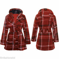 Polyester Tartan Coats & Jackets for Women