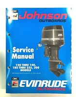 1990 OMC 120 125 140 185 200 225 300 HP Johnson Evinrude Service Manual 507875