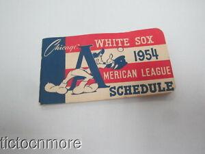 ORIGINAL 1954 CHICAGO WHITE SOX AMERICAN LEAGUE BASEBALL SCHEDULE UNUSED