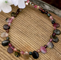 6.2g LOVELY NATURAL TOURMALINE CRYSTAL BEAD HEALING BRACELET w/clasp S.AFRICA