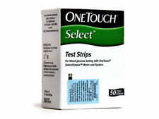 OneTouch Select Simple 50 Test Strips of For Glucometer, Machine Diabetes Sugar