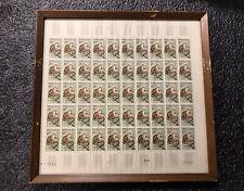 (50) 1961 Madagascar Malagasy 12F Stamp Sheet Hindged & Framed Lemur