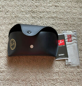 Ray-Ban Leather Case with Cleaning Cloth - B00R6X36GE