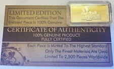 "NEW 5 Gram ""The Simpsons"" Certified Ingot Finished in 999 Fine 24 karat Gold"