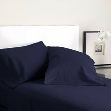 Modern Living T300 Solid Color Queen Sheet Sets (Evening Blue)