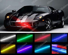 48 LED RGB IMPERMEABILE KNIGHT RIDER LUCE SCANNER LAMPEGGIANTE STROBOSCOPICI KIT