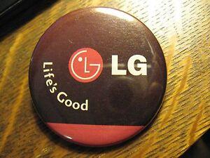 LG Corp Korea Electronic Phone Life's Good Advertisement Pocket Lipstick Mirror
