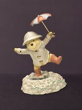 Disney Lenox Winnie the Pooh Singing in the Rain Porcelain Figurine NEW 14919