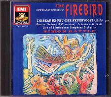 Simon RATTLE: STRAVINSKY The Firebird L'Oiseau de feu Scherzo à la russe CD EMI