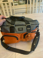 Tumi Everett Essential Dufflle Bag Grey Orange Alpha Bravo Weeked Carry On Rare!