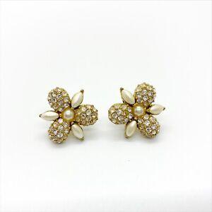 Vintage Flower Earrings By MONET