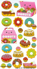 DONUT CHARACTERS Sticko Stickers - Baking Cakes Funny Faces - 23 stickers