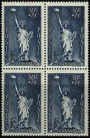 France 1937 Au profit des Réfugiés Bloc de 4 n° 352 neuf ★★ Luxe / MNH