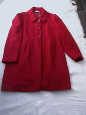 GEORGE  ...  size 18         RASPBERRY  RED   WINTER  COAT     41% wool