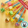 Lot 9 Animal Eraser Topper Wooden Pencils Cartoon Kawaii Cute Kid school Supply