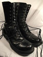 Vintage Boots Combat Corcoran Jump Size 7.5 D Black Leather Military Paratrooper