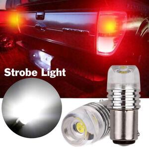 G4 AUTOMOTIVE 2x 1157 7528 LED Bulbs Flashing to Solid Strobe Warning Tail Light