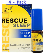 Rescue Sleep ||  Bach Flower Remedies || Natural Sleep Aid -  7 ml (Pack of 4)