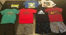 Boys Nike  Adidas Athletic Clothing Summer Shorts & Shirts Lot Size 6 7