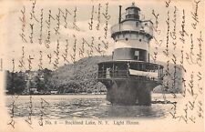 1907 Light House Rockland Lake NY post card Rockland county