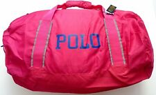 Polo Ralph Lauren Lightweight Nylon Bowery Packable Duffel Bag Fuchsia/Royal NWT