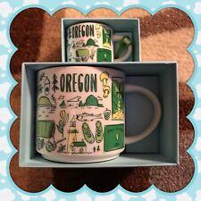 Starbucks YAH Been there Oregon Mug & Ornament Mini Demi Espresso Coffee cup