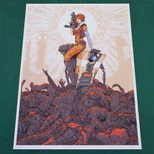 Borderlands 2 3 Lilith & Claptrap Screen Print Art Poster Lithograph Gearbox