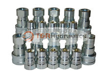 "10 Sets of 1/2"" ISO-B Hydraulic Quick Couplers"