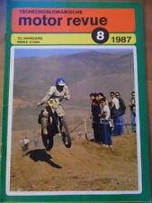 Tschechoslowakische MOTOR REVUE Nr. 8 - 1987 Jawa Enduro LIAZ 150.261 Speedway