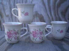 Gibson Dishes Roseland Ceramic Cups Mugs Set Of 4