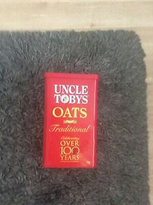 Vintage Rare Uncle Tobys Oats Tall Tin Over 100 Years 28cm